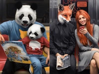 紐約地鐵上演《動物方城市》?狐狸不管到哪都是帥