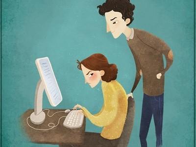 生活中令人抓狂11情境╬我在用電腦時別當背後靈啦!