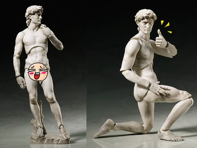 博物館驚魂夜真實上演?大衛雕像竟變成靈活公仔!