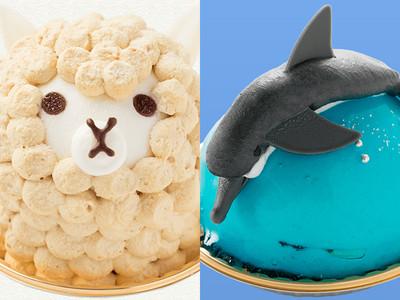 超多可愛動物造型萌蛋糕❤草尼馬跟海豚你想吃哪個?