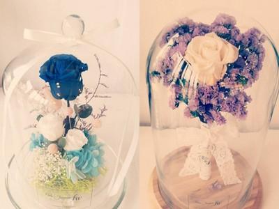 留住最美瞬間玻璃玫瑰,代替野獸寵愛美女們❤