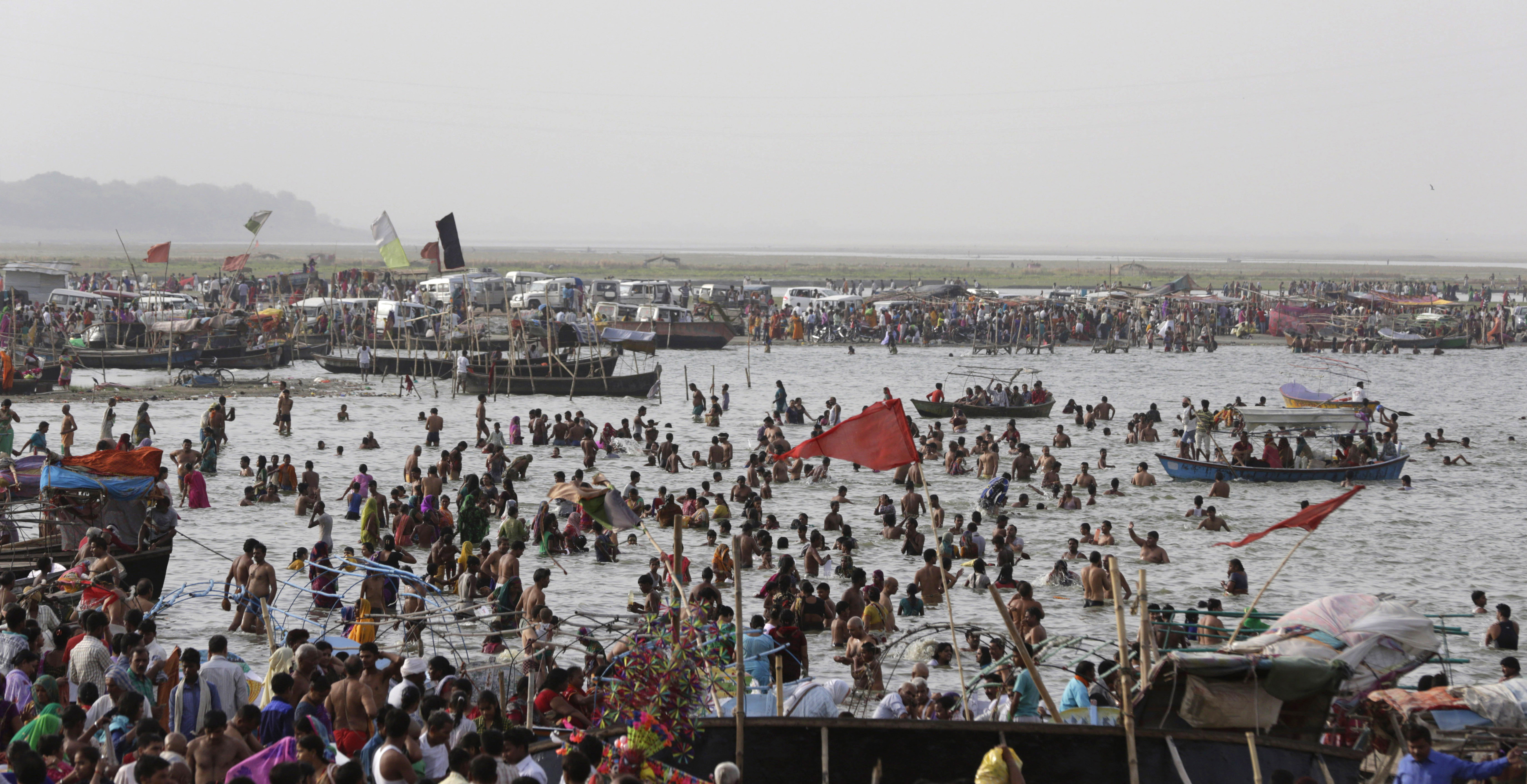 印度恆河。(圖/達志影像/美聯社)