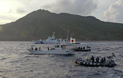 中4海警船侵入釣魚台 航行1.5小時