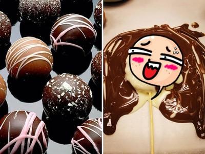 甜蜜作「老婆造型巧克力」..能失敗成這樣你也不容易