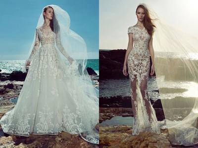 穿上林心如選的黎巴嫩婚紗最新款,走進禮堂性感又高雅