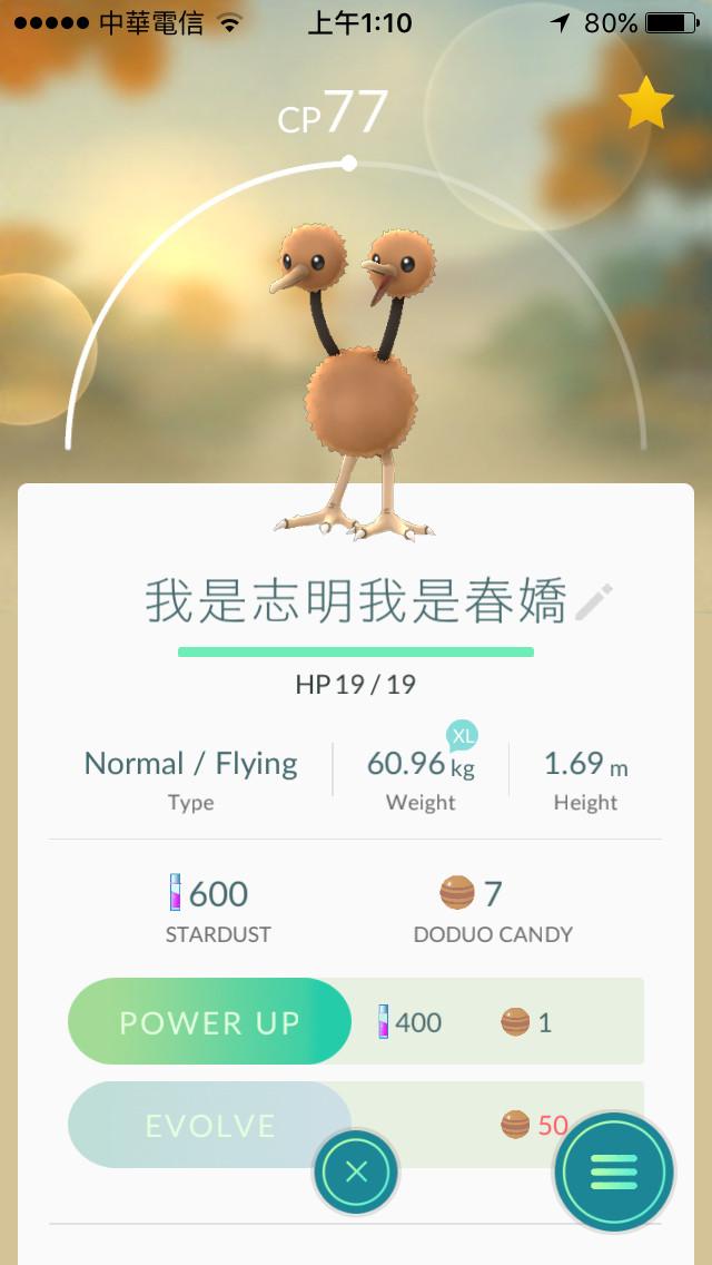 Pokémon GO命名超爆笑!小拳石台语翻译「九
