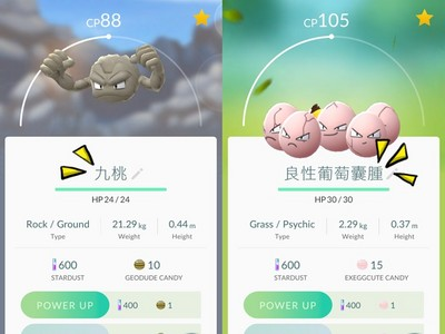 Pokémon GO命名超爆笑!小拳石台語翻譯「九桃」...XD
