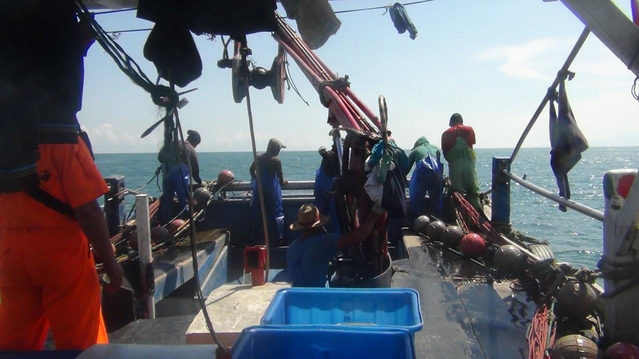 船上滿滿都是魚! 雇用陸漁工桃園外海雙拖遭移送法辦。(圖/記者謝侑霖翻攝)