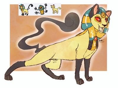 混血寶可夢大融合!死神棺x貓老大變身超帥氣埃及神獸