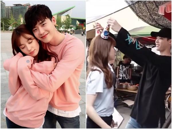 《W》李鍾碩、韓孝周對視跳舞。(圖/翻攝自MBC臉書)