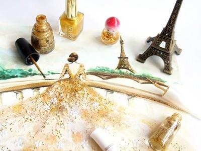 用指甲油畫出豔麗晚禮服,好想閃閃發光當一回仙杜瑞拉