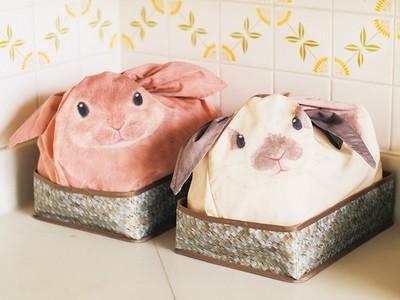 超萌!長耳朵邦妮兔小袋袋,讓姐秒變收納達人~