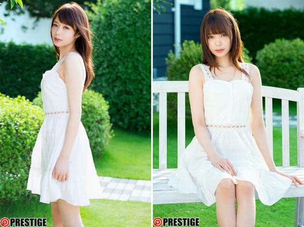 前陣子示範穿啥內褲不會走光的日本正妹,竟然是9月底將出道的AV新人女優凰香奈芽。(圖/翻攝自Youtube和推特)