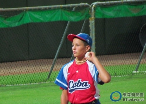 ▲2011年U12世界少棒賽,古巴左投莫雷洪(Adrian Morejon)。(圖/記者楊舒帆攝)
