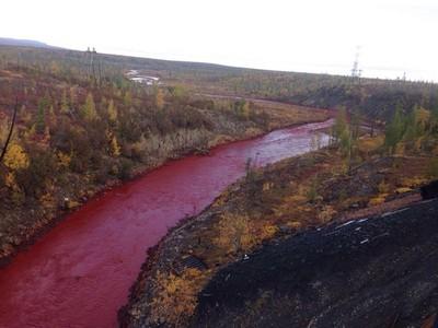 俄羅斯最毒城市諾爾里斯克,北極圈內蜿蜒淌血之河