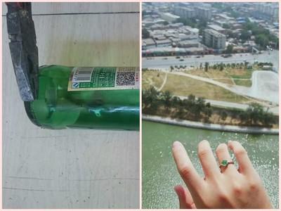 女友想要鑽戒,哥窮只好敲酒瓶→「綠鑽石」獻無價真心