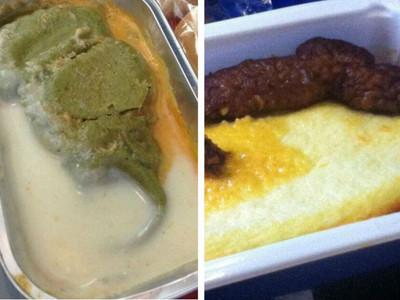12張圖說明飛機餐有多難吃 網友:這是嘔吐物佐大便吧