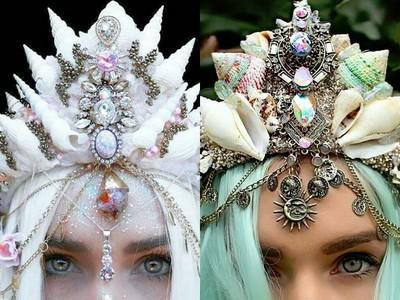 戴上夢幻手工貝殼皇冠,立刻變身優游大海美人魚公主