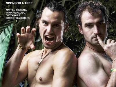 樹叢裡的猛男不是變態!他們用肉體喚醒你的環保意識~