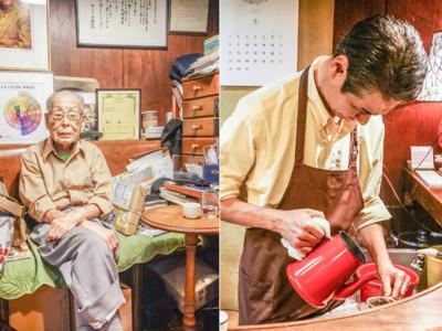 東京咖啡選:隱藏在銀座泡咖啡的這雙手,已經是百年人瑞!