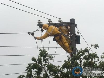 梅姬襲台 全台仍有121萬停電戶待搶修