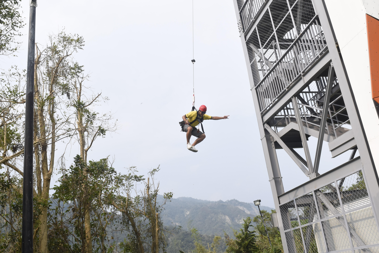 全台最刺激冒險飯店!四層樓自由落體、滑索挑戰極限(圖/記者陳涵茵攝。)