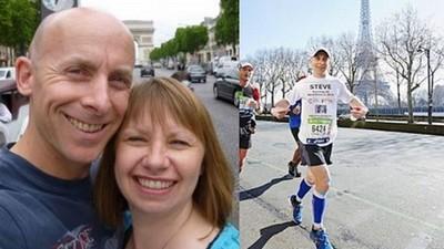 傷心鐵漢年跑20場馬拉松,紀念與亡妻一起度過的歲月
