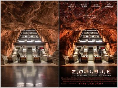 再爛的照片,這神人都能將它PS成超威的電影海報