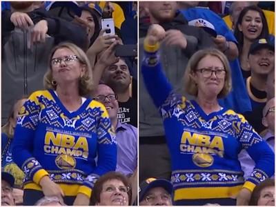 本日最吸「睛」!NBA賽場金髮大媽忘情狂舞全場看癡了