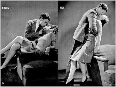 1940年代接吻教學,「歪頭扭脖」不對啦!