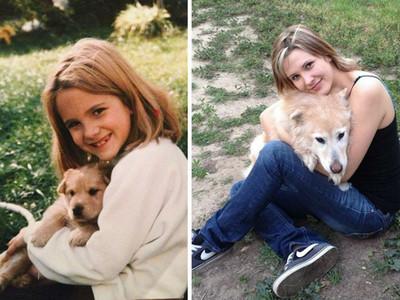 你長大了,我變老了!狗狗與小主人歲月對比照看了好揪心