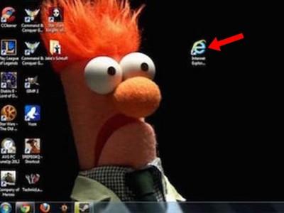 排擠「IE瀏覽器」的10張桌面,到底有多討厭它?