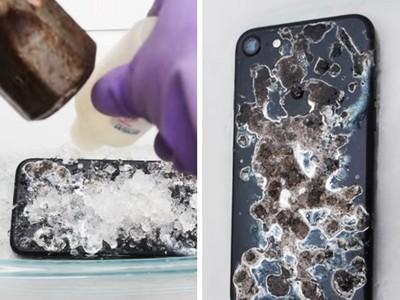 這影片讓果粉暴動了!用強酸淋蝕iPhone7竟然還可開機?