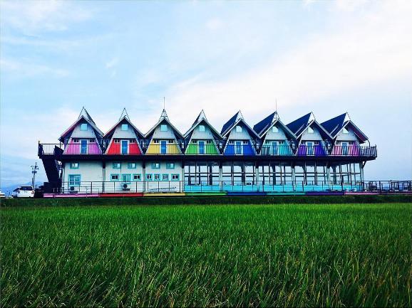 ▲礁溪 天空島上的小木屋。(圖/IG@dinyu0802提供)