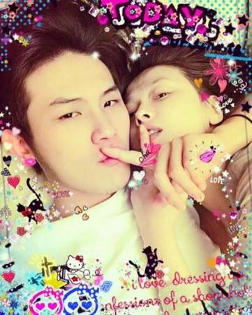蕭淑慎熱吻男友照片流出。(圖/翻攝自Instagram)