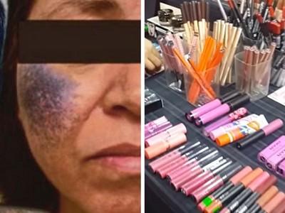 臉部癱瘓狂冒藍色噁瘡~夜市便宜「重金屬化妝品」害的!