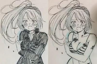 擦擦筆+吹風機扒光漫畫女角 日本人工口程度無上限