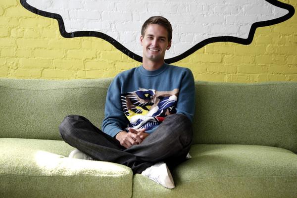 Snapchat創辦人Evan Spiegel(圖/達志影像/美聯社)