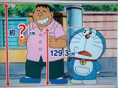 電視台推算「胖虎實際身高」,果然孩子王不是叫假的