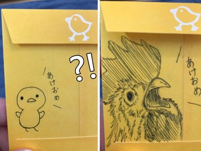 新年紅包畫隻雞,年紀越小拿的雞越可愛~