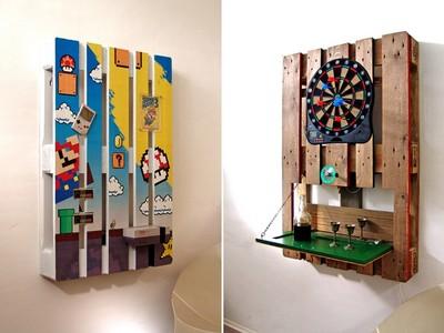 廢棄木棧板變「主題微樂園」!嵌飛鏢機也太聰明了吧