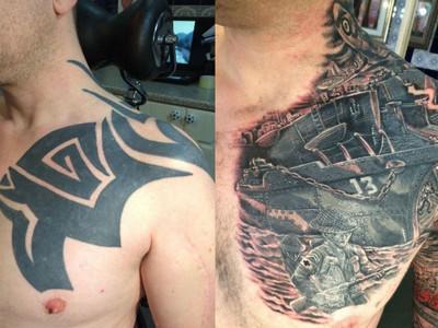 後悔紋了半甲「中二刺青」 男子賦予它世界大戰歷史教訓