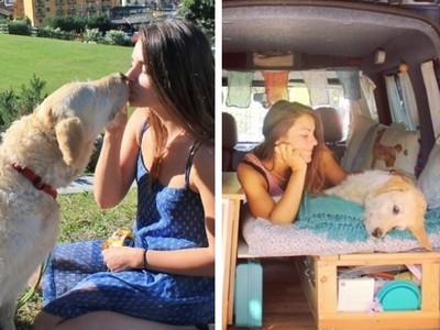 老貨車翻修變「移動新家」!不婚英女與愛犬相伴環遊世界