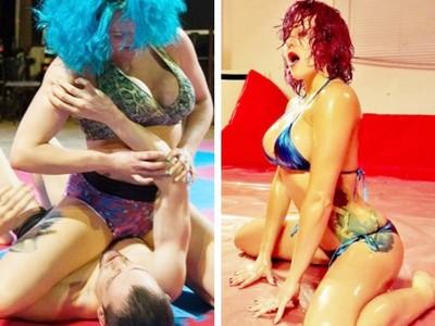 女摔角手「美尻鎖喉」玩真的!男客愛上情色擂台窒息快感