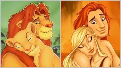 插畫家讓迪士尼中的動物「變成人」,牠們竟長這樣!