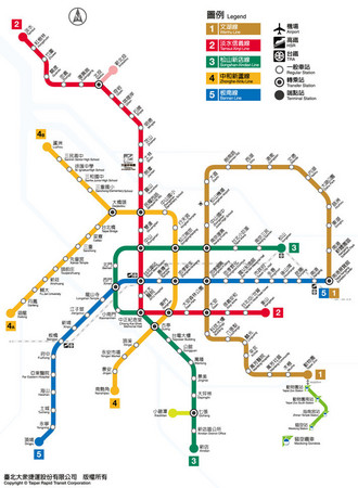 台北捷運路網圖。(圖/台北捷運)