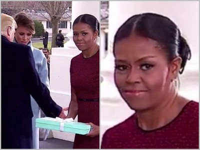 川普就職窘事連連,第一夫人拿著禮物要幹嘛?