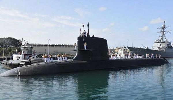 ▲日本蒼龍級潛艇SS-503抵達珍珠港。(圖/翻攝自美國海軍官網)