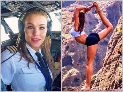 超逆天!瑞典正妹機師,開腿做瑜珈全球網友暴動了