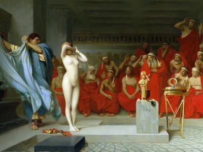古希臘名妓在法庭上被扒光 陪審團一見咪咪…瞬間有罪→無罪